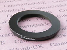 62mm to 43mm 62mm-43mm Stepping Step Down Filter Ring Adapter