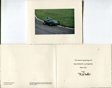 More details for **signed** christmas card stirling moss rob walker vanwall aintree gp 1957