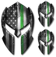Thin Green Line Spartan Helmet Decal Sticker Car Truck Jeep Military Army Marine