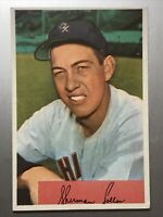 1954 Bowman 182 Sherman Lollar Chicago White Sox EX-MT Almost Mint Nice Card