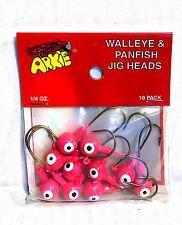 Arkie Walleye & Panfish Jig Heads 1/4 oz Pink 10 Count Pack