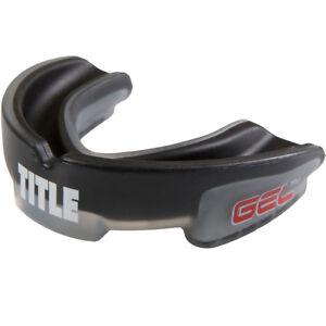 Title Boxing Gel Triple-Shox Mouthguard - Black/Gray