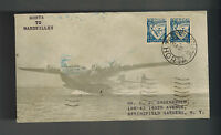 1939 Horta Portugal to New York USA First FLight Cover FFC Sage Cachet Marseille