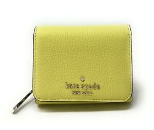Kate Spade Leila Small Leather Trifold Continental Wallet Frosty Lime WLRU0039