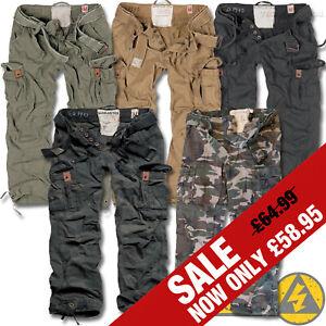 Surplus Premium Deluxe Mens Combat Cargo Trousers, Camo Army Military Work Pants