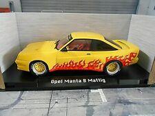 OPEL Manta B 400 Mattig Breitbau Tuning Fire gelb yellow Flammen MCG SP  1:18
