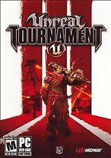 Unreal Tournament III 3 PC Shooter Game DVD UT3 Midway Case Manual Disc Windows