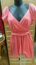 Ladies Pink Italian dress, 69%cotton, 31% silk size:S  G.A 25355