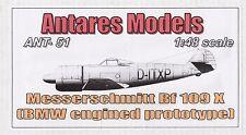 Ant4851/Antares-Messerschmitt bf-109 X-resin - 1/48 - RARO