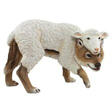 A Wolf in Sheep's Clothing Disguised Animal Wolves Statue Garden Sculpture