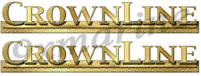 """Two 16"""" CrownLine Boat Remastered Name Plate Decals"""