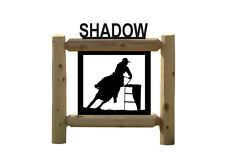 Personalized Rodeo Sign - Barrel Racing - Clingermans Equestrian Signs #292