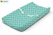 New Baby Infant Changing Cover Pad Diaper Change Cushion Nursery Teal Medallion