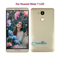 Gold New For Huawei Ascend Mate 7 LCD Touch Screen Full Assembly Frame + Cover