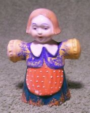 Vintage 1940's Cute GIRL with RED APRON SALT & PEPPER SHAKER