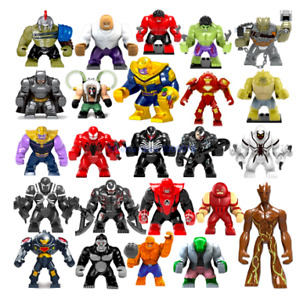 Building Toys Minifigures Big Size Marvel Avengers DC Super Hero Minifigures