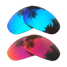 2 Pairs Ice Blue&Midnight Sun Replacement Lenses for-Oakley Juliet Polarized