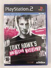 PS2 TONY HAWK'S AMERICAN WASTELAND (2005), nuovo & sigillato in fabbrica, piccolo strappo