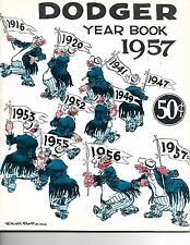 1957 Brooklyn Dodgers Yearbook Last Season EX+++!!
