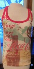 """Coca Cola Brand """"Things Go Better With Coke"""" Ladies Tank Top Size Large"""