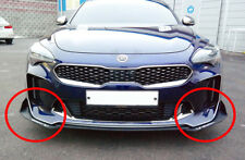 Morris Club Front Bumper Canard Wing Cup Splitters Body Kit 2PC For Kia Stinger