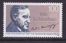 Germany Berlin 9N580 MNH 1989 Carl von Ossietzky - Nobel Peace Prize Winner