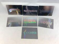 MEGA-METAL Heavy Metal Cards (Impel 1991) Complete Set of 7 HOLOGRAM LOGO CARDS