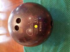 Vintage Columbia 300 Yellow Dot Bowling Ball  #8T35515