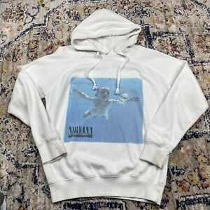 Nirvana Neverminfd Pullover Hoodie Band Size M White