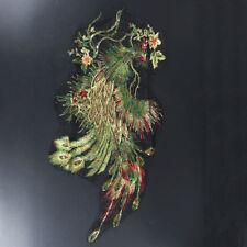1pcs Lace Dress Decor Phoenix Peacock Applique Motif DIY Craft Embroidered Phoenix