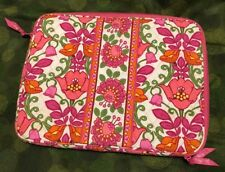 "VERA BRADLEY Jacobean Floral LAPTOP CASE SLEEVE 14""x 10 1/2"" x 1"" Zip"