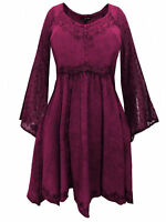 LONG purple MEDIEVAL PRINCESS PLUS SIZE TOP 18 20 22 24 26 28 30 32 XL 2XL 3XL..