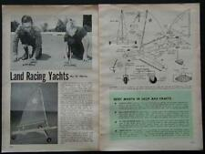 Model Land Racing Yachts How-To build PLANS Sail powered Easy Build