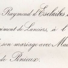 Raymond D'Esclaibes D'Hust 1867 Du Bouexic De Pinieux