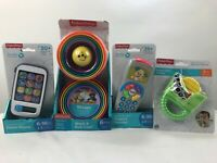 fisher price development toys smart phone- stack cup- puppys remote  Lot of 4