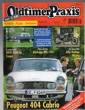 OLDTIMER PRAXIS 7 / 1999 / PEUGEOT 404 Cabrio, MERCEDES 190C, BENELLI Sei, uvm