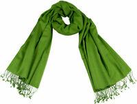 Pashmina Schal Grün Green 70% Cashmere, 30% Seide silk scarf stole woven