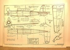 BLACKBURN SKUA FLYING MODEL AIRPLANE PLAN 15""