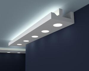 10m LED Stuckleisten Lichtvoutenprofil indirekte Deckenbeleuchtung Hartschaum