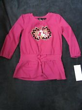 BABY PHAT Pink With Gold Foil Cotton Girls Toddler T Shirt Top Size 2T NWOT