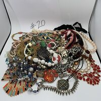 Jewelry Craft Lot-5+ Pounds-Mostly Necklaces-Some Repairable/Many Wearable #21