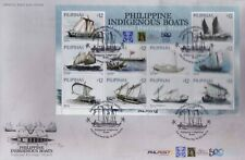 2021 Philippines INDIGENOUS Boats, National Heritage month sht/10 + S/S on 2 FDC