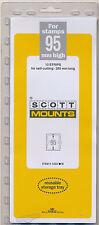 Prinz Scott Stamp Mount 95/265 BLACK Background Pack of 5