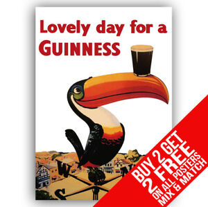 GUINNESS BB1 VINTAGE PUB POSTER ART PRINT A4 A3 SIZE BUY 2 GET ANY 2 FREE
