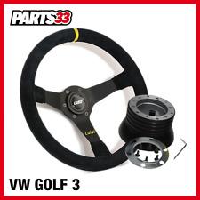 [TÜV] Geschüsseltes Lenkrad Motorsport 350mm alle VW GOLF 3 + Luisi Nabe