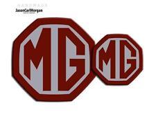 MG ZR LE500 MK2 Front & Rear Insert Badge Set 59mm 95mm Burgundy & Silver Badges