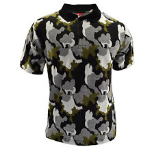 Red Chillies Fashion Wear Camo Print Polo Shirts in Black, Blue & Green S-XL