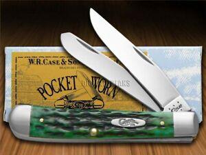 Case xx Trapper Knife Pocket Worn Jigged Bermuda Green Bone 09720