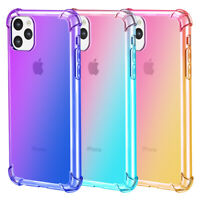 Gradient Color ShockProof Soft Back Case TPU Silicone Cover For iPhone 11Pro Max