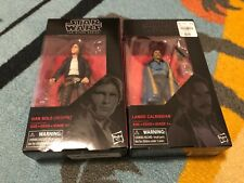 "Hasbro Star Wars The Black Series 6"" Han Solo Bespin 70 & Lando Calrissian boxed"